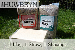 meadow hay, farm fresh straw and soft wood shavings