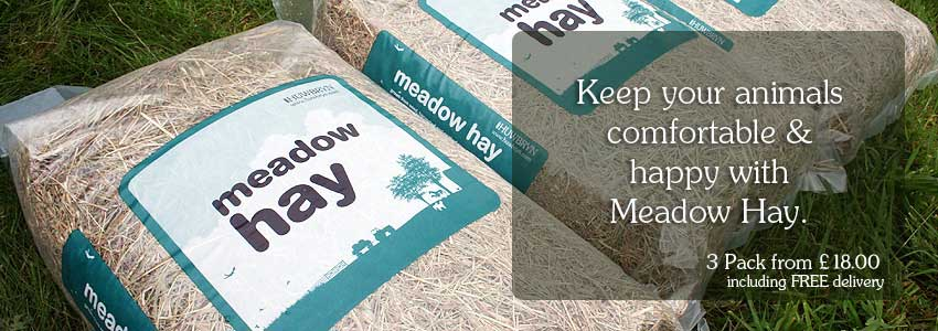 Hay from the meadow, 3-pack available for £18